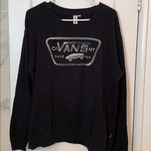 Vans black sweatshirt